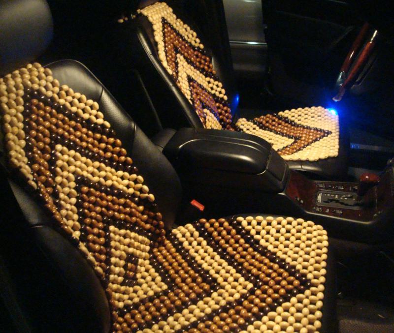wood bead seat cover kmishn